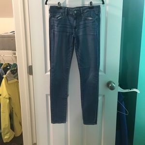 A pair of jeans from Abercrombie & Fitch.